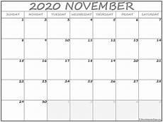 Calendar Month November 2020 November 2020 Calendar 56 Templates Of 2020 Printable