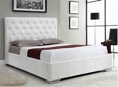 exclusive leather high end platform bed with storage