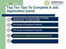 Tips For Filling Out Applications Job Applications Top Ten Tips Youtube