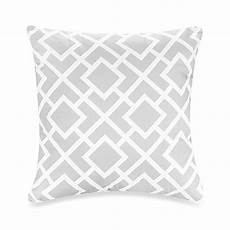 sweet jojo designs throw pillow in grey white