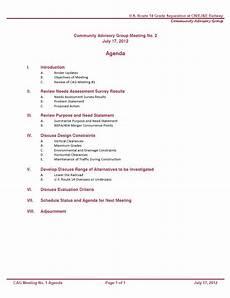 Community Meeting Agenda Community Advisory Group Us 14 Cn Railway
