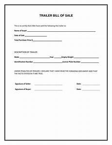 Bill Of Sale Form Download Free Trailer Bill Of Sale Form Pdf Template Form Download