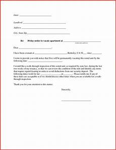 Notice To Vacate Apartment Templates 30 Day Notice To Vacate Apartment Template