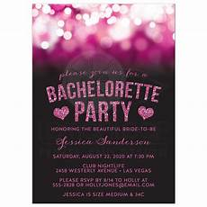 Pink Party Invitations Bachelorette Party Invitations Pink Party Lights