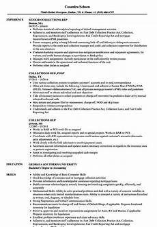 Collection Resume Examples Collections Rep Resume Samples Velvet Jobs