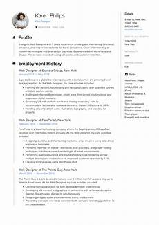 Web Design Resume 12 Free Web Designer Resume Examples 12 Samples