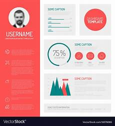 Profile Templates Simple Profile Dashboard Template Royalty Free Vector Image