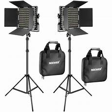 Film Light Stands Neewer Bi Color Led 2 Light Kit With Stands 90089829 B Amp H Photo