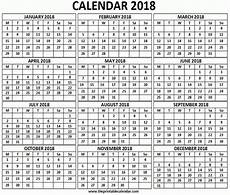 Printable 12 Month Calendar On One Page 12 Month Printable Calendar 2018 One Page Template
