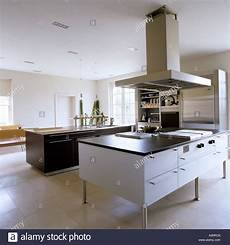 island extractor fans for kitchens modern kitchen with island and large extractor fan stock
