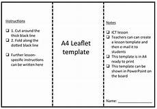 Leaflet Template Word Free Leaflet Template By Rs007 Teaching Resources Tes