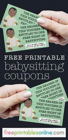 babysitting coupon templates cute onesie free babysitting voucher free printables online