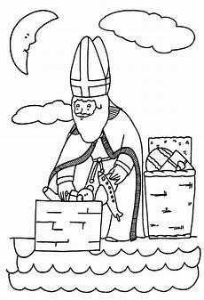Ausmalbild Bischof Nikolaus Bischof Nikolaus Ausmalbilder Malvorlagen F 252 R Kinder