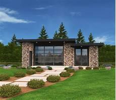 exclusive micro modern house plan open floor plan