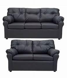 elzada 5 seater sofa set 3 2 in black buy at