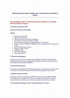 Minutes From The Meeting 17 Professional Meeting Minutes Templates Pdf Word