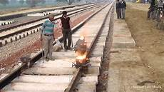 Thermite Welding Indian Railway Thermite Welding Full Procedure Youtube