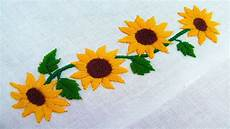 embroidery border line design sunflower embroidery