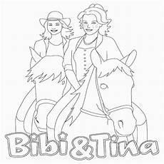 ausmalbild bibi und tina auf amadeus und sabrina