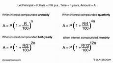 Monthly Compound Interest Formula Compound Interest Aptitude Dyclassroom Have Fun
