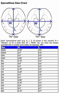 W Size Chart Eponashoe Sizing Chart