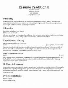 Free Traditional Resume Templates Free Resume Builder Resume Templates To Edit Amp Download