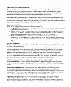 Human Resource Resume Objective Free 8 Sample Job Objective Statement Templates In Pdf