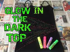 How To Make A Black Light Shirt Diy How To Make Your Own Glow In The Dark Top T Shirt