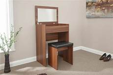 gfw compact dressing table and stool in walnut by gfw