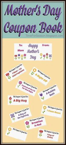 How To Make A Coupon Book For My Boyfriend Free Mother S Day Coupon Book Printable With Images