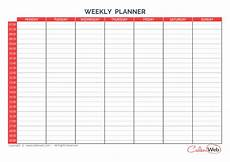 7 Day Calendar With Hours Weekly Planner 7 Days First Day Monday A Week Of 7 Days