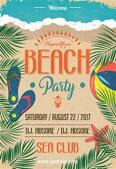 Beach Party Flyer Template Free Beach Party Flyer Psd Template By Elegantflyer