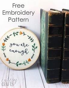 quot you are enough quot embroidered quote cutesy crafts