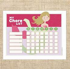 Size Chart For Mermaid Mermaid Routine Chore Chart Pdf Instant Download