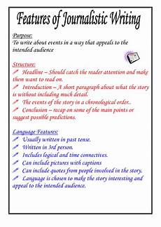 Journalistic Style Features Of Journalistic Writing Poster By Moshing