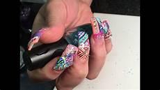 Pang Nail Design Super Long Acrylic Nails With Exotic Nails Design 2015