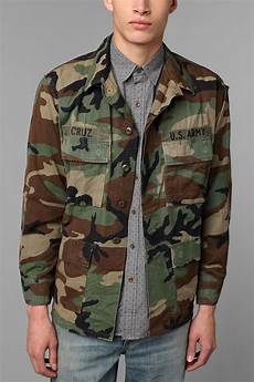 camo coats for lyst outfitters renewal vintage oversized