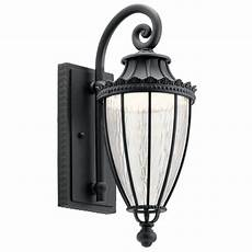 Kichler Outdoor Wall Light Kichler Lighting Wakefield Textured Black Led Outdoor Wall