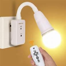 Wall Socket Light Intelligent Led Remote Control Lights Bedroom Bedside Lamp