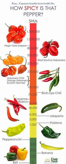 Chili Heat Chart Infographic Capsaicin Levels Of Peppers For Heart Health