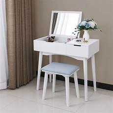 bewishome vanity makeup table set flip top mirror