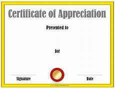 Template Of Award Certificate Free Certificate Of Appreciation Template Customize Online