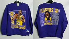 vintage lakers la magic johnson sweatshirt 32 nutmeg