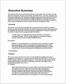 Executive Summary Word Template 29 Free Executive Summary Templates In Ms Word Format