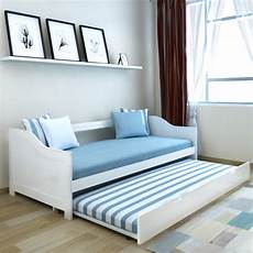 wooden day bed pullout daybed trundle solid wood sofa beds