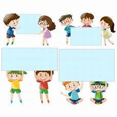 Kinderen Met Frames Inzameling Vector Gratis Download