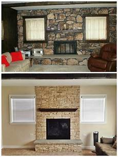 this happy fireplace makeover