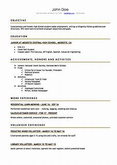 Sample Resume For High School Students Resume Format For High School Students High School Resume