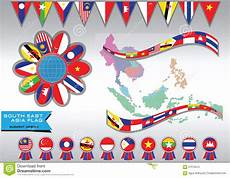 Southeast Asian Designs Aec Or Asean Or Info Graphic Stock Illustration
