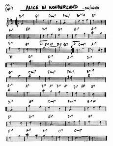 Alice In Wonderland Jazz Chart Alice In Wonderland Waltz Bob Hilliard Partituras